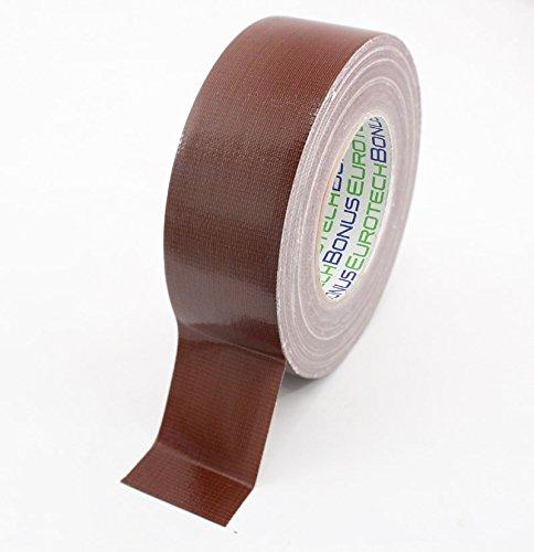 BONUS Eurotech 1BC12.46.0050/050A# Premium Duct Tape, Klebstoff auf Naturkautschuk Basis, mit PE laminiertes Gewebe, Länge 50 m x Breite 50 mm x Dicke 0,25 mm, Braun