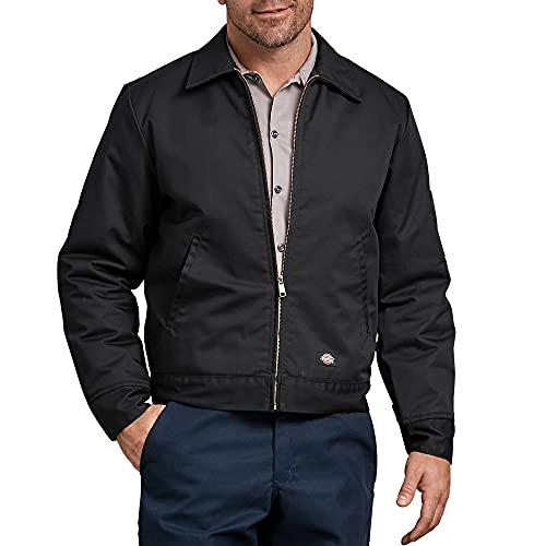 Dickies Men's Insulated Eisenhower Front-Zip Jacket,Black,Medium/Regular,Black,Medium/Regular