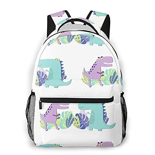 Bolsos de la escuela del dinosaurio para los muchachos de las muchachas, mochila básica ocasional durable resistente del agua