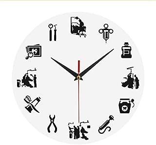 YJSMXYD Relojes De Pared Único Suministros Médicos Patrón Acrílico Redondo Hospital Familiar Decorativo Preciso Tiempo Hogar Silencioso Cocina