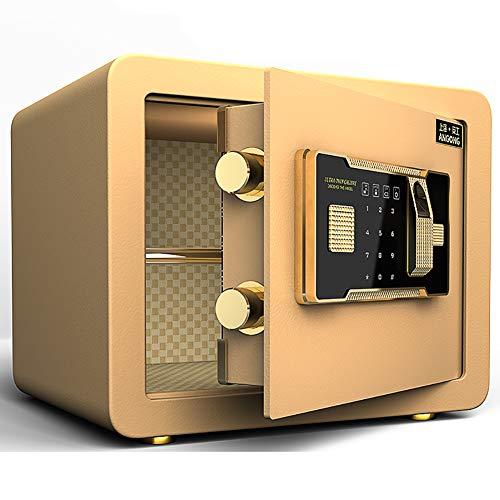 Y-BXX Safe Safe Fingerprint Fireproof, Cerradura de combinación de electrónica Digital, Caja Fuerte biométrica con Sistema de Bloqueo de Huellas Dactilares, Caja Fuerte para Pared