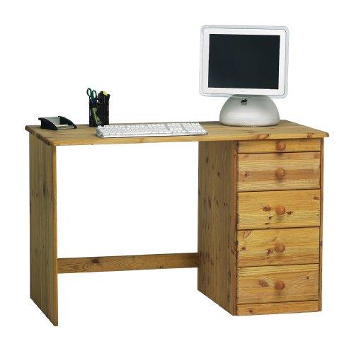 Steens Kent Schreibtisch, mit 3 Schubladen und einem Utensilienfach, 120 x 77 x 60 cm (B/H/T), Kiefer massiv, gelaugt geölt
