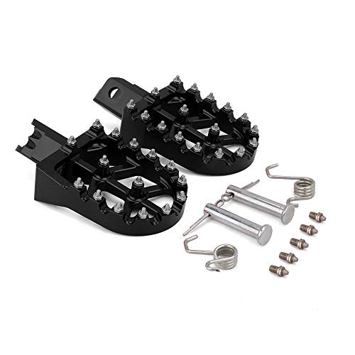 AnXin Foot Pegs Motorcycle Universal CNC Footpeg Footrest for Honda CRF XR 50 70 110 M2R SDG DHZ SSR KAYO Pit Bike Black