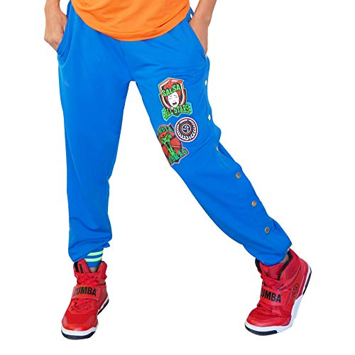Zumba Breathable Activewear Dance Sweatpants Loose Fit Workout Pants for Women, Jersey Blue 0, XL