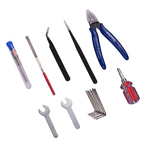 Fesjoy Herramientas de Limpieza de boquillas, Impresora 3D de 25 Piezas Modelo Herramientas Kit de eliminación Destornillador + Archivo + Aguja de Limpieza + Llaves + Pinzas + Alicates para impresión