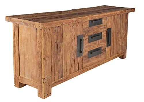 SIT-Möbel Coral 4403-01 Sideboard mit 2 Türen & 3 Schubladen, recyceltes Teakholz, braun, 180 x 45 x 85 cm