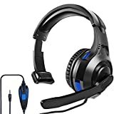 PS5 PS4 Headset with Mic, arVin One Ear Mono Gaming Headphones with Microphone Control, 3.5MM Wired Unilateral Headset for Playstation 5 4, Xbox Series X/S, Xbox One, Nintendo Switch/Lite & Laptop