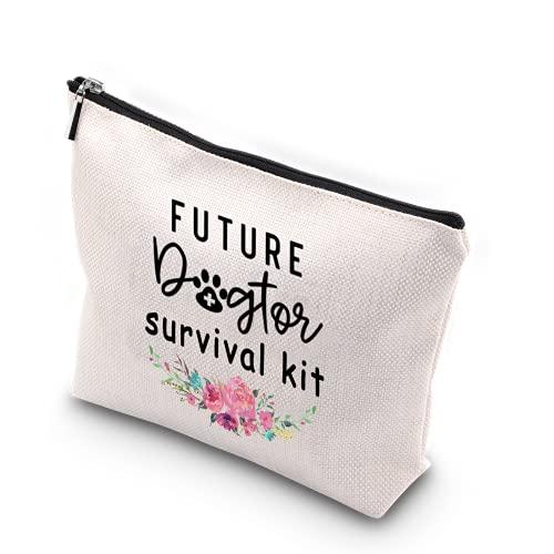 WCGXKO Future Dogtor Survival Kit Vet Gift Future Veterinarian Animal Doctor Zipper Pouch Makeup Bag (Dogtor Survival)