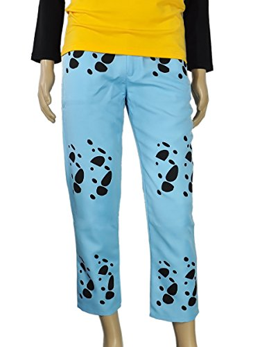 CoolChange Pantalones de Trafalgar Law de One Piece, Azul. Talla: XL