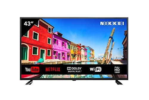 NIKKEI NF4321SMART LED Fernseher 43 Zoll (109 cm), Full HD Smart TV, WiFi, 3X HDMI, 1x USB, Netflix, YouTube, Triple Tuner, Television