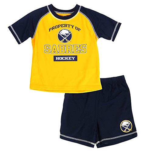 Outerstuff Buffalo Sabres NHL Gold Cool Base T-Shirt & Shorts Set Toddler (2T-4T)