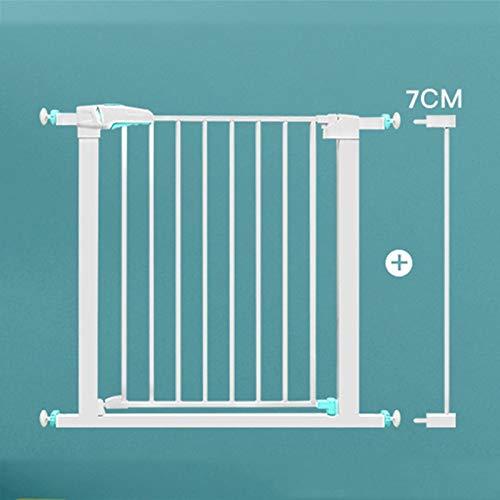 Escalera y pasillo Montado en la pared Dual Lock Gate Baby Gate Fácil Instalación Ajustable Extra Ancho Extra Alto Escalera de seguridad Niño Puerta de seguridad Punch-Free PET CERCA Presión Presión (