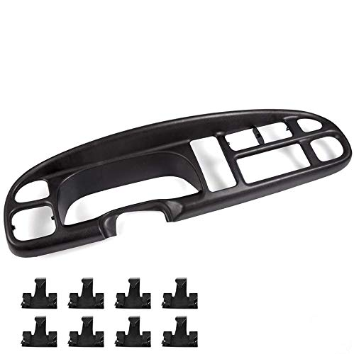 Speedmotor Dashboard Instrument Cluster Face Surround Bezel Clips Compatible for Dodge 1998-2002 Ram 1500 2500 3500 Pickup Black