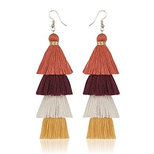 Pendientes de borla para mujer, joyas más coloridas, bonito regalo para mujeres