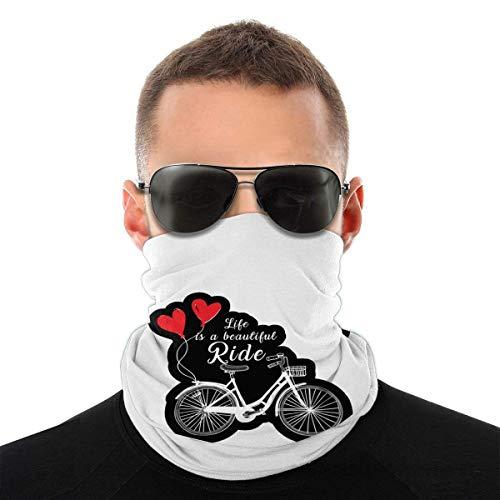 Lawenp Bufanda caliente Life is A Beautiful Ride Face Headband Unisex Windproof Scarf Seamless Bandana for Outdoor Activities