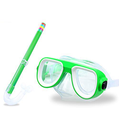 Kids Snorkel Set Junior Snorkeling Gear Kids Silicone Scuba Diving Snorkeling Glasses Set Snorkel Equipment for Boys and Girls Age from 48 Years Old