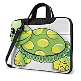 Green Funny Turtle Laptop Shoulder Bag Computer And Tablet Carrying Case Briefcase Handbag