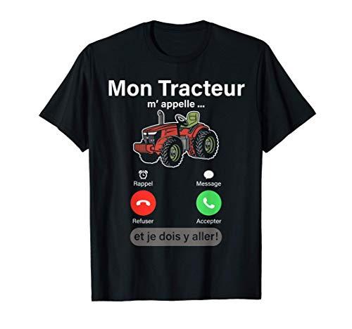 Humour Tracteur Agricole homme enfant garcon Agriculture Tee T-Shirt