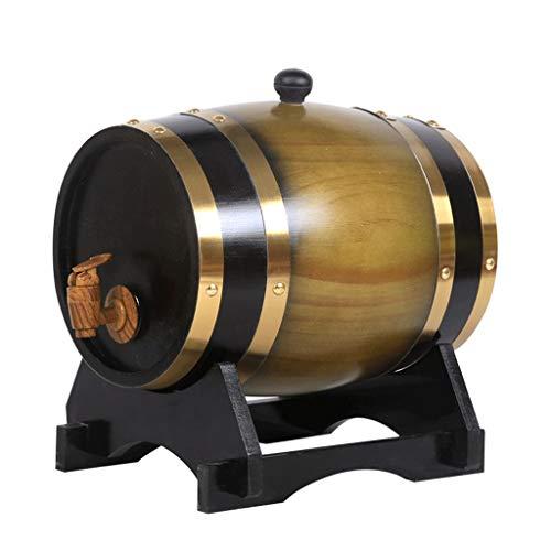 A+ Dispensador de agua barril forrado barril de roble de madera barril de cerveza whisky cerveza ron portabarril dispensador de agua .1.5L a 100L caja de almacenamiento de barril de roble BLE B