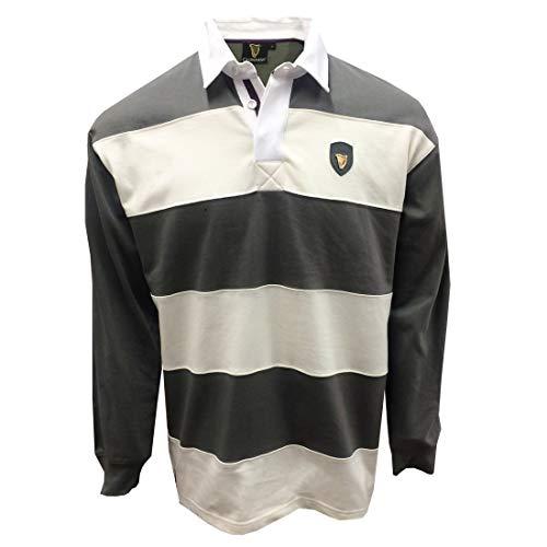 Guinness - Maglietta da rugby in peltro, taglia L/S, colore: Panna