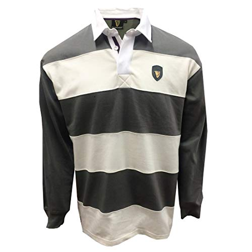 Guinness Pewter/Crème Metalen Badge L/S Rugby Shirt