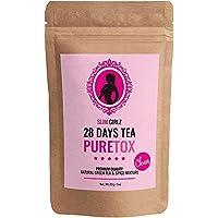 Slim Girlz Detox Tea 28 Days | Té desintoxicante Para Mujeres|Té de dieta y para pérdida de grasa|Hoja suelta 85g|Suplemento Dietético Natural Sin Aditivos Para Pérdida de Peso|Complejo Herbal Activo