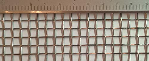 Filterbau Edelstahl Drahtgewebe mit 5 mm Maschenweite, 1 mm Drahtstärke. 1m x 50cm