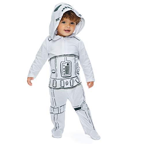 Star Wars Storm Trooper Baby Boys Costume Zip-Up Footies with Hood 18 Months