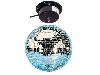 Spiegelkugel Diskokugel Discokugel Ø 30 cm mit Motor - Party Beleuchtung Licht Show