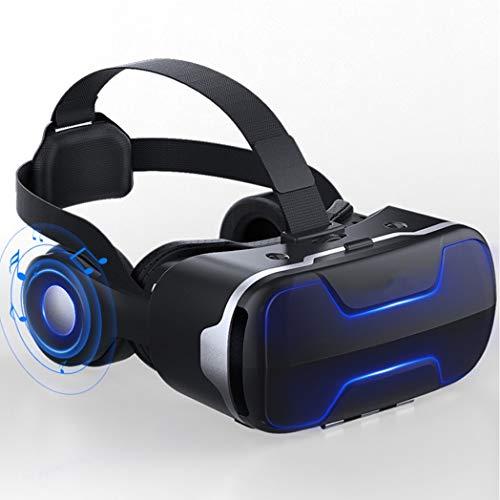 JCSW VR Brille, HD Virtual Reality Brille Headset Handy für 3D Film und Spiele mit Bluetooth Controller für Das iPhone 12/Pro/Max/Mini/11/X/Xs/8/7 Für Samsung & Android-Handys, 4.7-6.5Zoll, O203xb