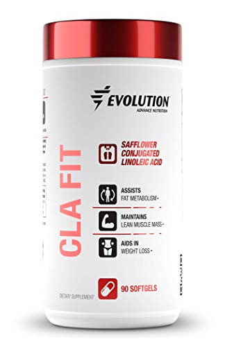 Evolution Advance Nutrition CLA Fit, Safflower Conjugated Linoleic Acid – Vegan and Keto Friendly Dietary Supplement Support for Fat Metabolism, Lean Muscle Mass and Weight Loss (90 Softgels, 800 mg)