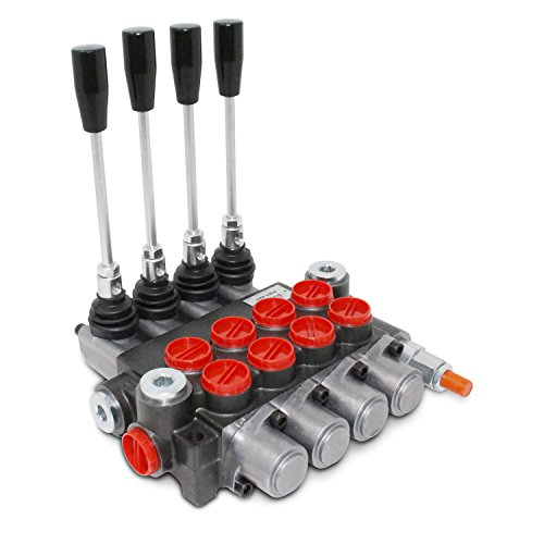 Monoblock Hydraulic Directional Control Valve, 4 Spool, 11 GPM, SAE Ports