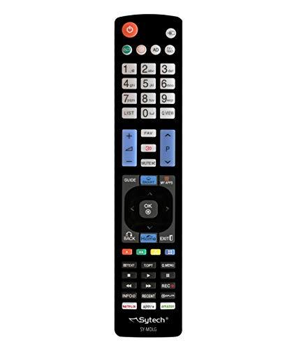 Sytech, SY-MDLG- Mando a Distancia Compatible con televisores de la Marca LG