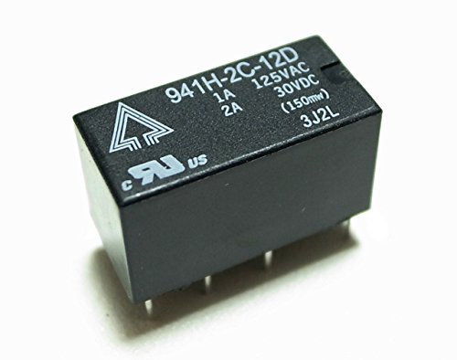 12V小型リレー 接点容量:2A 2回路C接点 941H-2C-12D