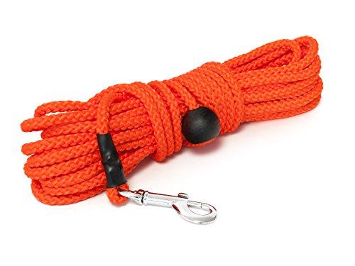 Mystique® Nylon Feldleine rund 7mm neon orange Standard Karabiner (20m)