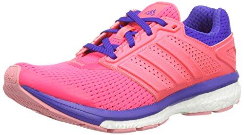 adidas Supernova Glide Boost 7, Damen Laufschuhe, Pink (Boo Flared/Fla), 37 1/3 EU (4.5 Damen UK)