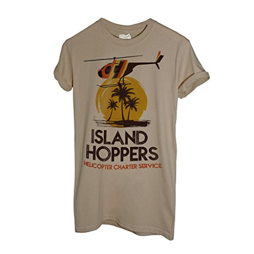 MUSH T-Shirt Magnum Pi- Island Hoppers - Film by Dress Your Style - Herren-L-Beige