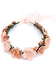 Boho Bloemenhoofdband, voor dames, bloemenkroon, voor bruiloft, strand, reis, bruid, bruiloft