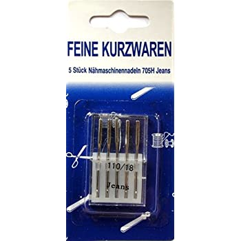 5 Stück Jeans Nähmaschinennadeln 110 705 H 70-110 Nadeln Rundkolben
