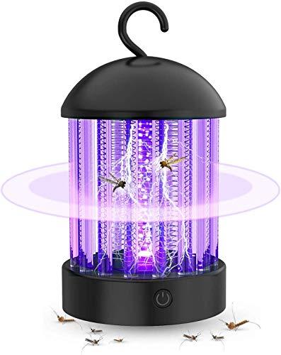 Bug Zapper Mosquito Killer Electrónico, no tóxico Silencioso Lámpara repelente de insectos Trampa de control de plagas eléctrica a prueba de agua, linterna portátil para interiores y exteriores