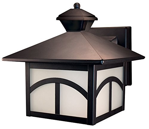 Heath/Zenith SL-4110-OR 180-Degree Motion-Activated Modern Bungalow Style Decorative Lantern, Oil Rubbed Bronze by Heath/Zenith