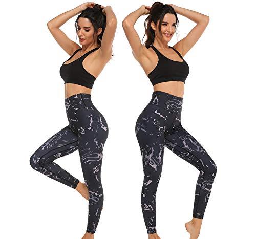 ADOME Yogahose Damen Lang Jogginghose High Waist Sporthose Leggings für Yoga Pilates Fitness Training
