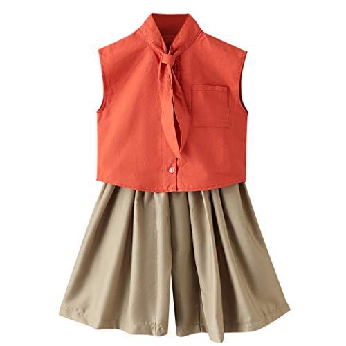 Kleinkind Baby Kinder Mädchen Casual Solid TieT Shirt Tops + Lose Hosen Outfits Set