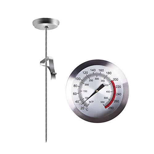 JUNSHUO Mjölktermometer med klämma, multifunktionell bärbar rostfritt stål kök mat matlagning sond termometer för bakning, kulinarisk, grillning, stekt, kaffe och flytande grodning, ost, yoghurt