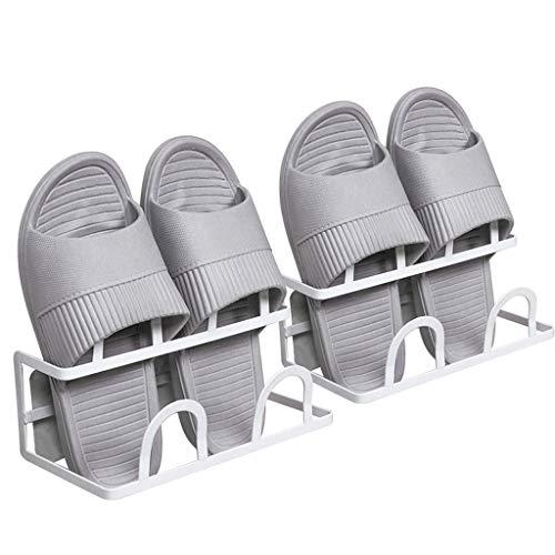 Xiuyun Ensemble de 2 porte-chaussures de 2 poinçons sans poinçon suspendus à cadre en métal pour le couloir de salle de bain (Color : B)