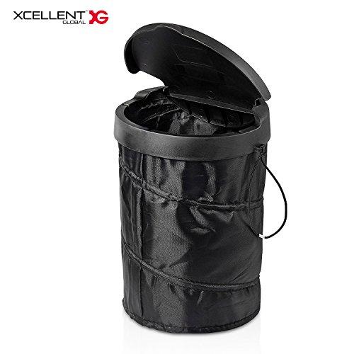 Xcellent Global Poubelle de voiture corbeille pliable sac de rangement Pop Up (se déplie toute seule) AT030