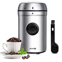 kyg macinacaffè elettrico 80g alta capacità blocco di sicurezza lame in acciaio inossidabile 304 macinino coffee grinder per chicchi di caffè spezie semi pepe cereali stagionatura