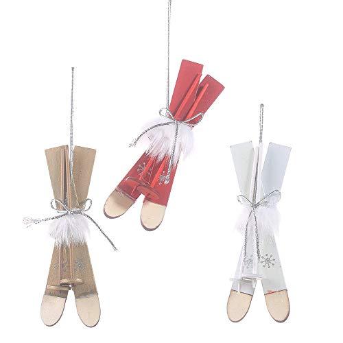 GIAO Figurines Ornamenten Figurines Decor Kerst Decoraties Houten Slee Hanger Creatieve Ski Veer Hanger