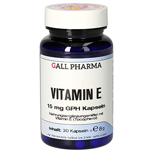 Gall Pharma Vitamin E 15 mg GPH Kapseln, 30 Stück, 1er Pack (1 x 30 Stück)