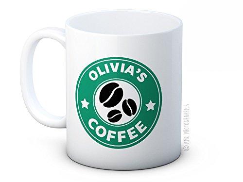 Dein Name - Personalisierte Grüne Kaffeebohne Kaffee oder Tee Tasse Becher